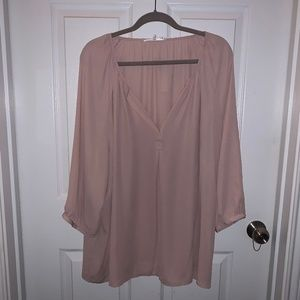 PLUS SIZE | Simple Blush Blouse